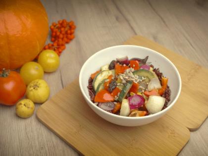 Dziki ryż z warzywami – przepis