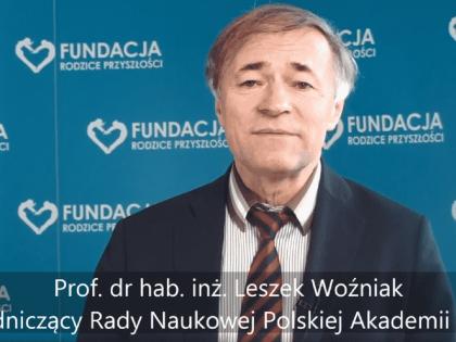 Prof. dr hab. inż. Leszek Woźniak o chemii stosowanej w żywności.